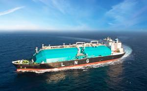 File Image: a typical LNG carrier at sea (CREDIT: MISC)