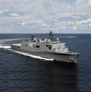 The U.S. Navys LX(R) amphibious warship class will replace the Harpers Ferry- and Whidbey Island-class dock landing ships and will use the same hull as the San Antonio (LPD 17) class. HII rendering