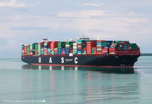 Largest UASC vessel to date to call Khorfakkan Container Terminal (KCT)