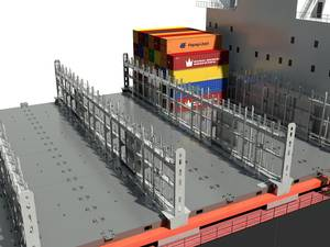 Lashing bridge is a vital part of the container ships cargo system. With a proper cargo system design, the ships capacity will be secured.