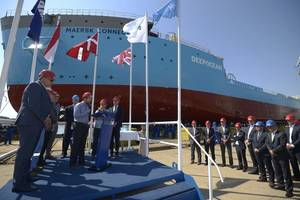 Launch of Maersk Connector at Damen Shipyard