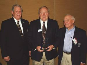 Left to right: Byron Dunn, GSSC President; Larry Porter, and Ron Pierce, GSSC Chairman of the Board.