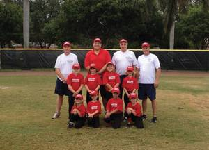 The Maritime Reporter 6U T-ball team.