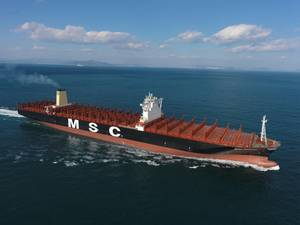 MSC Oscar at sea trial (Image courtesy of MSC)