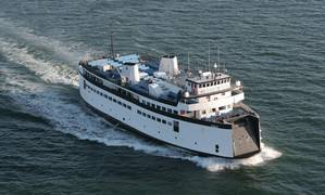 The Steamship Authority's M/V Eagle ferry serves the Hyannis to Nantucket route.