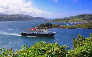 MV Isle of Mull leaving Oban Bay (Photo: CalMac)