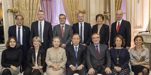 The High-level Advisory Group on Sustainable Transport convened in Paris in connection to the COP21 to provide recommendations on sustainable transport. The Maersk Group is represented in the Group by CEO of APM Shipping Services Morten Engelstoft. Photo: Maersk Group
