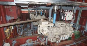 The four engines in the shallow draft boat have good ventilation as much of their bulk is above the waterline. (Haig-Brown photo courtesy of Cummins Marine)