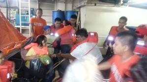 Ferry rescue: Photo courtesy of Philippine Coast Guard