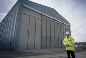 Stewart Graves, Managing Director of Mainstay Marine Solutions outside the companys build hall on Pembroke Dock (Photo: Mainstay Marine Solutions)