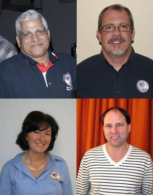 Clockwise from top left: Dr. Manik S. Sardessai, Walter J. Putman, Jr., Timothy P. Schallhorn and Catherine Gibbons