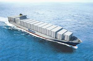 Artists Depiction of 3,600 TEU containerships