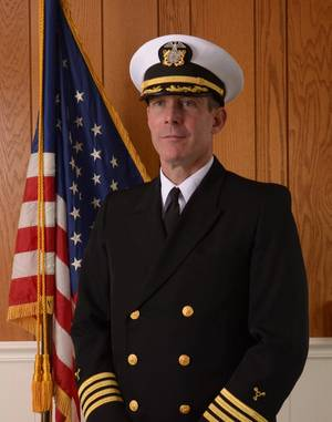 Francis X. McDonald, the 38th president of the Massachusetts Maritime Academy.