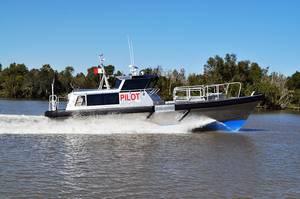 Custom Bill Preston-designed 45 aluminum pilot boat built by Metal Shark for the Canaveral Pilots. (Photo: Metal Shark)