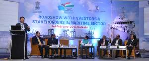 Mr Abhishek Chandra, IAS, Deputy Secretary Ministry of Shipping, speaking on the occasion of the Inagural Road Show in Kolkata ahead of The Maritime india Summit 2016