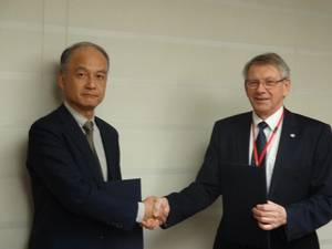 Mr Yasushi Nakamura  NKCS Operating Officer and Mr Ame Michelsen Secretariat Manager of FROSIO