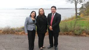 Mrs. Cecilia Hernandez, Mrs. Magdalena Carrera and Mr. Victor Almengor from Panama Maritime Authority, during the audit of Seagull Maritime's training centre in Horten, Norway.