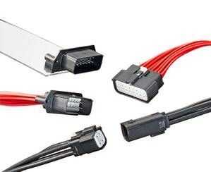 ML-XT solution for wiring applications in harsh environments. The 18-circuit ML-XT sealed system, with XRC terminals, color-coded housings and custom options, ships fully assembled—ready to deliver full IP68, IP69K and SAE J2030 compliance. (Photo: Molex)