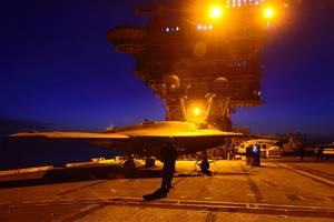 Night-flying X-47B: Photo USN