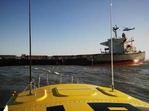 Bulk Carrier Smart aground: Photo credit NSRI