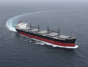 The NYK BP Handymax Bulk Carriers which will be equipped with Wärtsilä scrubbers to be built at Oshima Shipyard (Image courtesy of NYK BP)