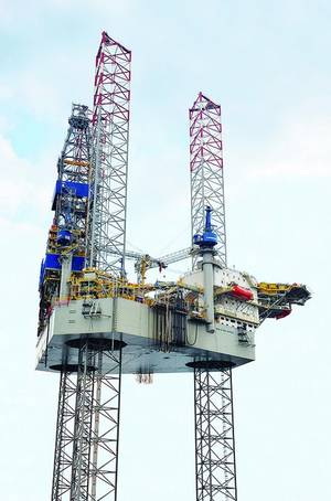 Jack-up rig Noble Mick OBrien, delivered to Noble Drilling in 2013 (Photo: Sembcorp Marine)