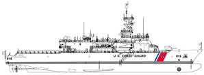 A depiction of the U.S. Coast Guards Offshore Patrol Cutter design (CREDIT: ESG)