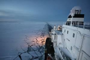 Ob River Transit of NSR: Photo credit Gazprom Group