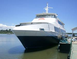 Ocean Jet dockside: Photo courtesy of Cummins Philippines
