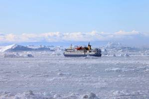 Ocean Nova on ice Photo Inmarsat