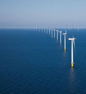 Offshore windfarm: Photo credit Hans Hillewaert