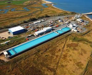 Ohmsett Test Tank: Photo courtesy of BSEE