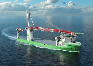 The worlds first LNG fueled offshore construction vessel being built for DEME will be powered by Wärtsilä. (Photo: Wärtsilä)