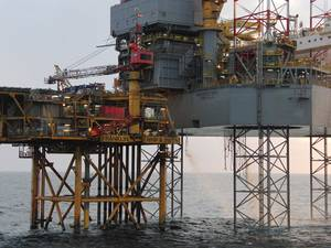 PROSPECTOR 1 on location in the U.K. Sector of the North Sea (Photo courtesy of Prospector Offshore Drilling)