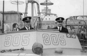 Photo of PT305 officers at Bastia in 1944.  Image courtesy of the WWII Museum