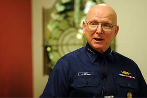File photo: ADM Bob Papp, U.S. Coast Guard Commandant