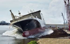MV Marjorie C launched from VT Halter Marine in Pascagoula.