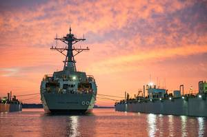 The guided-missile destroyer Pre-Commissioning Unit (PCU) Paul Ignatius (DDG 117). Photo: United States Navy