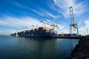 CMA CGM containership at the Port of Long Beach (Photo courtesy of the Port of Long Beach)