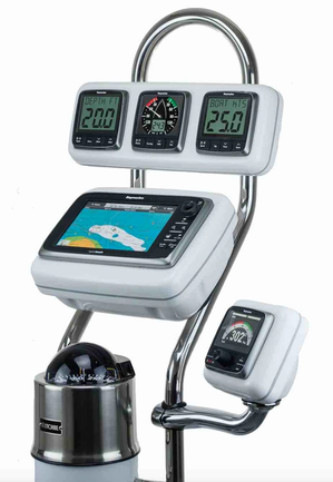 Pre-cut NavPods are for all popular marine electronics manufacturers' displays Photo by Ocean Equipment