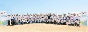 Qatargas beach clean up day Photo Qatargas
