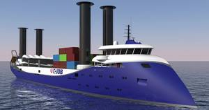 Flettner Freighter (Photo: C-Job Naval Architects)