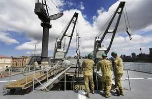 HMAS Tobruk: Photo courtesy of RAN