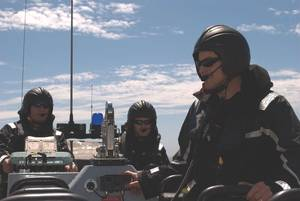 RHIB crew with DIAMOND intercom and radio communications system. Image credit: Drumgrange