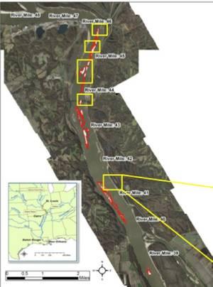 Upper Mississippi rock removal: Image courtesy of Big River Coalition
