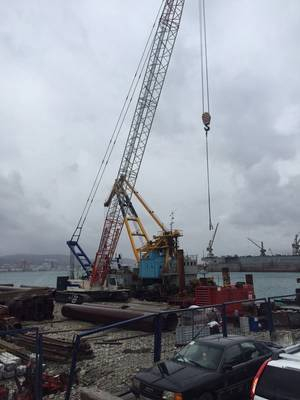 Construction of a deepwater berth at the NUTEP terminal in the Black Sea port of Novorossiysk has commenced. (Photo: Ruscon)