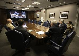 SECNAV video conference: Photo USN