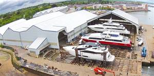 Solent Refit – aerial shot of Solent Refit at Hythe (Photo: Solent Refit)