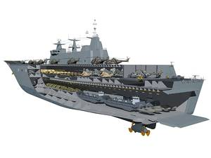 Canberra Class Amphibious Assault Ship concept (Image: RAN)