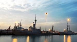 Sunset @ Singapore Naval Base. Photo by Government of Singapore